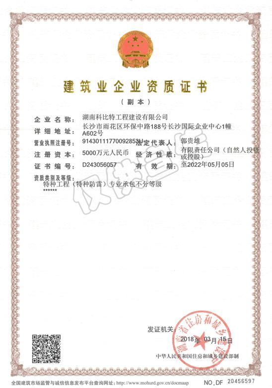 特种gong程(特种防雷)专业chengbao不分等级资质